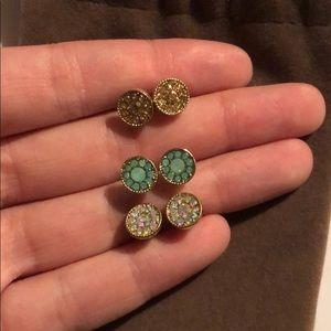 Set of Francesca's stud earrings